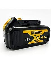 DeWalt DCB182 Reserveaccu 18,0 volt/4,0 Ah XR Li-Ion (compatibel met alle 18,0 volt XR accumachines van DeWalt, led-accu-laadniveau-indicator).