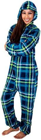 NIGHT FOX Adult Onesie Pajamas for Women Hooded Jumpsuit PJs Animal Print Footie Pajamas product image