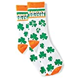 LED Light Up Novelty St Patricks Day Shamrock Socks