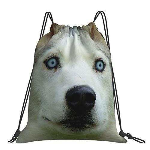Mochila con cordón Fitness al aire libre portátil ajustable impermeable mochila deportiva mirada en mi bebé Blues!!! - Husky siberiano - ES