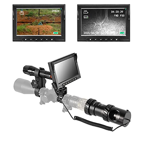 BESTSIGHT Night Vision Scope for riflescopes with Night Scope Hunting Camera and 5' Screen,with Photo and Video Features