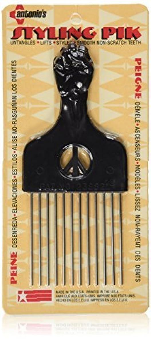 モート横にリットルLegends Creek Antonios Made In America Metal Hair Styling Pik for Volume & Tangles [並行輸入品]