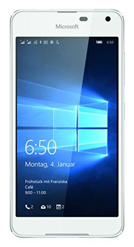 Microsoft Lumia 650 Dual-SIM Smartphone (5 Zoll (12,7 cm) Touch-Bildschirm, 16 GB Speicher, Windows 10) weiß