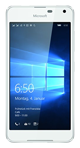 Microsoft Lumia 650 Dual-SIM Smartphone (5 Zoll (12,7 cm) Touch-Display, 16 GB Speicher, Windows 10) weiß