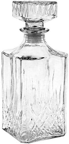 COM-FOUR® Classic glazen karaf voor whisky, cognac, likeur, whisky karaf ca. 900 ml (001 stuks - whisky)