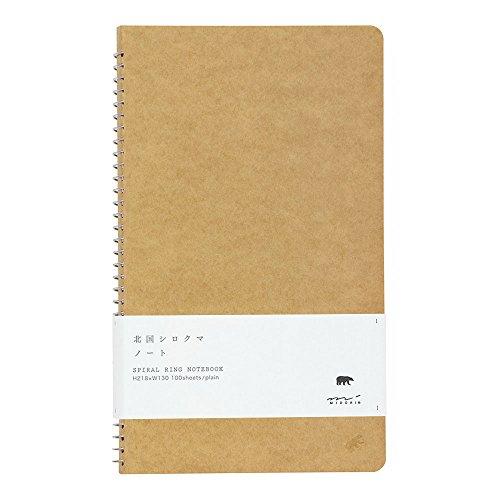 Tan spiral ring notebook Mukei northern polar bear pattern (japan import)