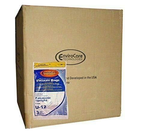 Electric Vac LLC Caso 1/2 (25 Pkgs) Panasonic U6 U12 Aspiradora Vertical de la alergia Bolsas Tranquila Fuerza Plus