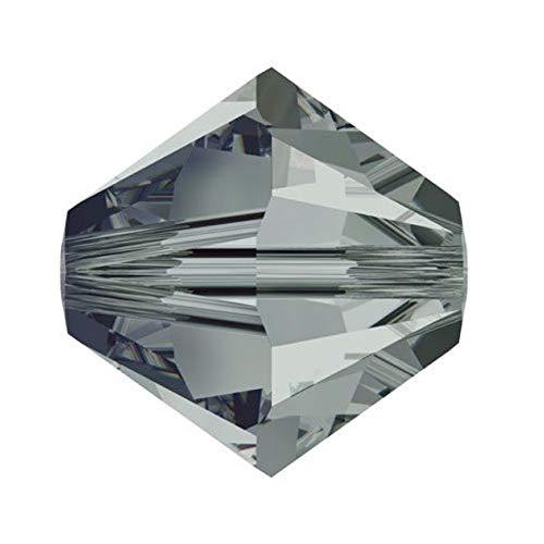 50pcs Authentic 3mm Small Swarovski Crystals 5328 Xilion Bicone Crystal Beads for Jewelry Craft Making (Black diamond) SWA-b321