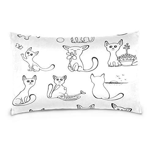 FULUHUAPIN Funda de almohada de forro polar de algodón, diseño de mariposas, con cremallera, tamaño estándar, suave y acogedor, para niños y niñas, 40,6 x 60,9 cm 2030085