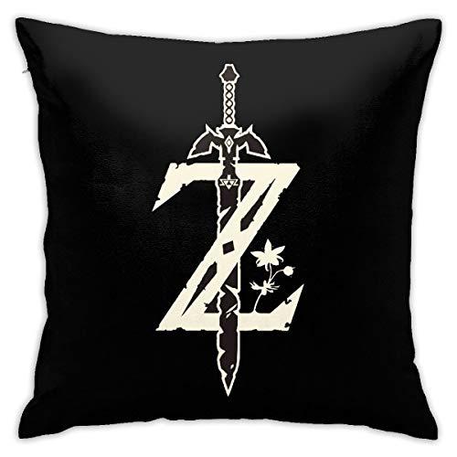 N / A The Legend of Zelda - Federa per cuscino da divano, 45 x 45 cm