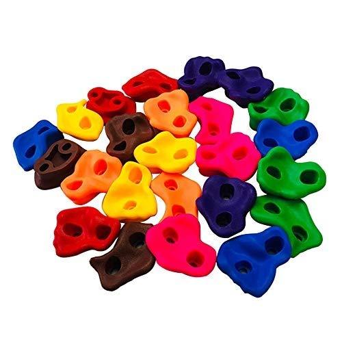 Ganquer Juego de 10 piedras de pared duraderas para niños pequeños juguetes de agarre para escalada de rocas surtidas sin tornillos