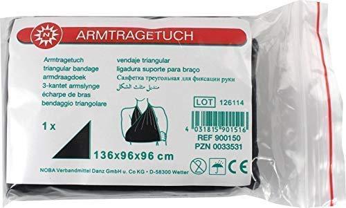 Armtragetuch Dreiecktuch 136 x 96 x 96 cm von Noba (1 Stück, weiß (aus Viskosegewebe))