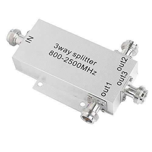 Topiky 3-weg coaxiale splitter, digitale N-aansluiting signaalbooster internetversterker voor tv-antenne en satellieten