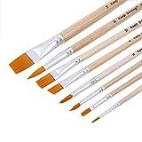 NIBABA Set De Borchas Acuarela Acrílico Pintura Acetriz Pinceles Art Supplies de Pintura 8 Conjuntos de cepillos de Nylon Adecuado para Pintura De Acuarela Gouache.