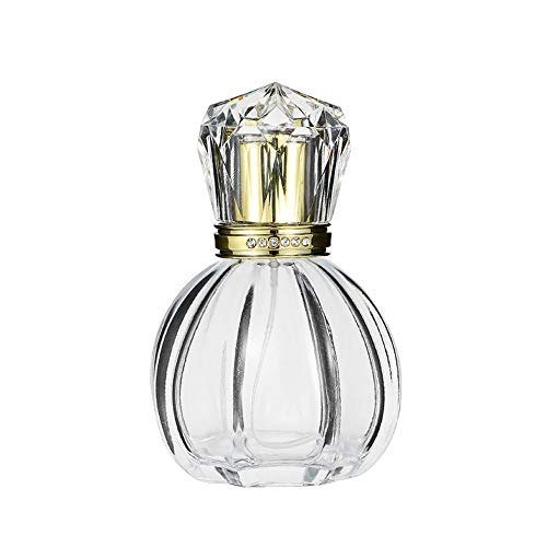 EOPER Botella de perfume de cristal de 50 ml Botella de perfume vacía recargable botella de perfume dispensador de perfume botella de agua hidratante perfume atomizador herramienta de maquillaje