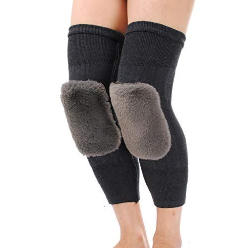 STZSHION Kneepad Warme Wolle Kniepolster Dicke Kaschmir Knieschützer Winddicht Kalt Gute Qualität (Color : Dark Gray)