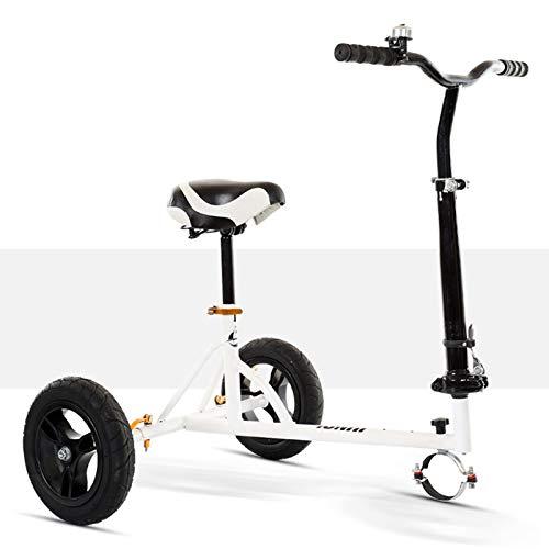 Wgwioo Kit de conversión de Kart, para Hoverboard, Asiento de hoverkart Ajustable Plegable, fácil de Llevar para Scooter eléctrico Inteligente con autoequilibrio,Blanco