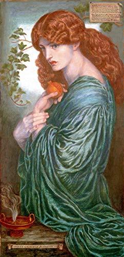 """Canvas Print Wall Art - Proserpine - Dante Gabriel Rossetti - 16"""" by 32"""""""