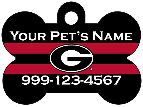 NCAA Dog Tag Pet Id Tag Personalized w/Name & Number (Georgia Bulldogs)