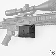 Spartan Mount for AR-10 | Rifle Display | Wall Storage Organization System | Unique Low Profile Design | Gun Safe Wall Garage | Gun Room Mounting Solution