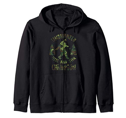 Bigfoot Funny Gift - Undefeated Hide And Seek Champion Sudadera con Capucha