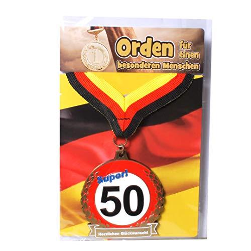 Udo Schmidt GmbH & Co Geburtstags Orden Super 50 Geburtstags Geschenk Scherzartikel LUSTIG Gag