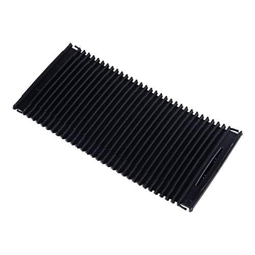XIANGBAO QI Rodillo Centro Negro del Coche Consola ciega Tapa de plástico A20468076079 Fit for Mercedes C/Clase E W204 W212 S204 S212