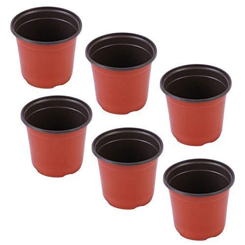 Adoture 100 macetas de plástico de 4 pulgadas para plantas de guardería/macetas de plantas de semillero