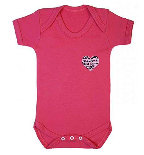 Flox Creative Baby Vest T-shirt Life Isn't Perfect But Your Outfit Can Be - Rose - XXL