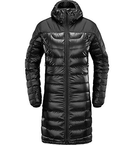 Haglöfs Daunenjacke Frauen Parka Bivvy Down Wärmend, Atmungsaktiv, Wasserabweisend True Black Solid XS XS