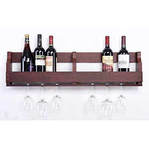 Casier À Vin Suspendu Tasses Mur Chêne À Vin Armoire En Bois Massif Cabinet Restaurant Européen Salon 550 * 120 * 245 Cm, 900 * 120 * 245 Cm (Couleur : D)