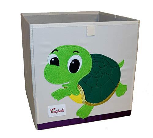 Sakasu Een mooie en robuuste opbergdoos voor elke kinderkamer, met schattige motieven. Deze speelgoeddoos is geschikt voor jongens en meisjes om het speelgoed ruimtebesparend op te bergen. schildpad