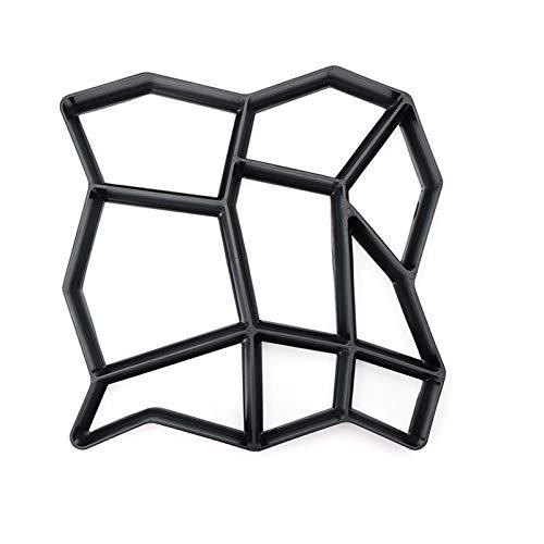 Lynn Garden DIY Plastic Path Maker, Pavement Model Concrete Stepping Stone Cement Mould Brick Garten DIY Kunststoff Path Maker Fahrbahnmodell Beton-Trittstein Zementform Ziegel