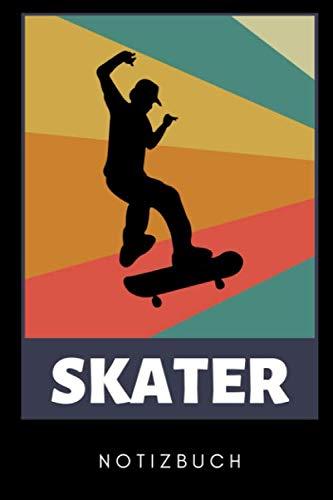 SKATER NOTIZBUCH: A5 Notizbuch PUNKTIERT Skateboarder Geschenk | Skateboard Buch | Kinder Erwachsene | Skateboarding | für Skateboardfahrer | Geschenke für Jugendliche