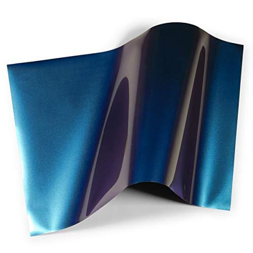1枚入り-約A4サイズ 約20cm×30cm 02-青色変化パープルの術 色が変わる 角度によって色変化 熱転写ラバーシート アイロンシート アイロンプリントシートカッティング用シートカッティングシール カッティングステッカー Tシャツ 服