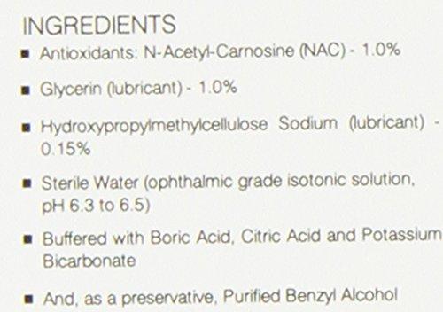 Ethos Bright Eyes™ Carnosine NAC Eye Drops - 2 Pack of 2 x 5ml Bottles(total 4 bottles) NAC Eye Drops (Safe for Cataracts Sufferers)NAC n acetyl carnosine eye drops