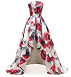 Dydsz Hi-Lo Prom Dress Homecoming Dresses for Women Evening Gown Floral Print D295 4-Highlow 14
