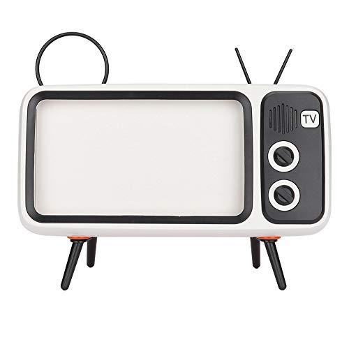 Altavoz Bluetooth Retro, Altavoz Estéreo HD con Forma de TV ...
