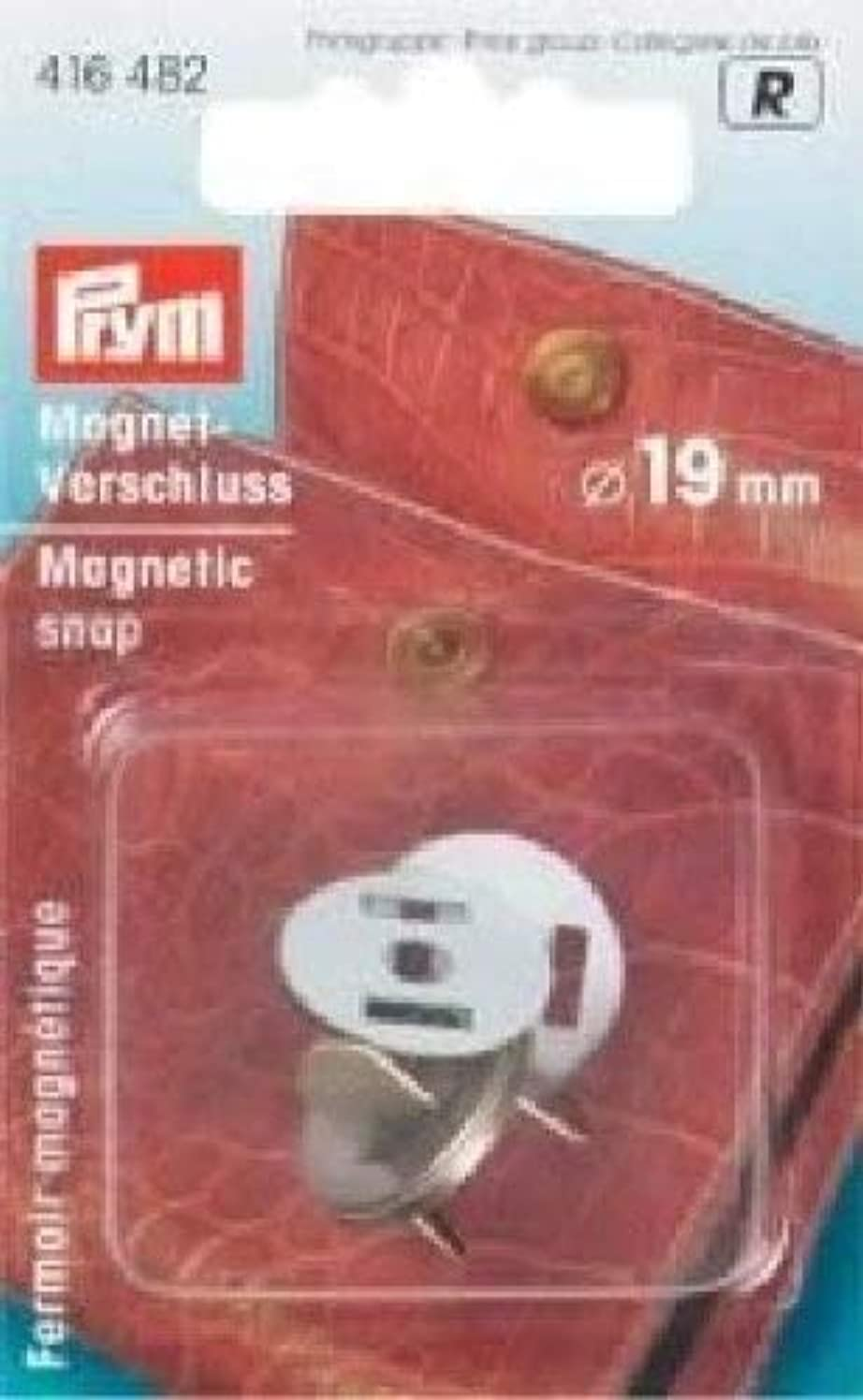 PRYM 416482 Magnetic snap Size 19mm antique brass, 1 piece