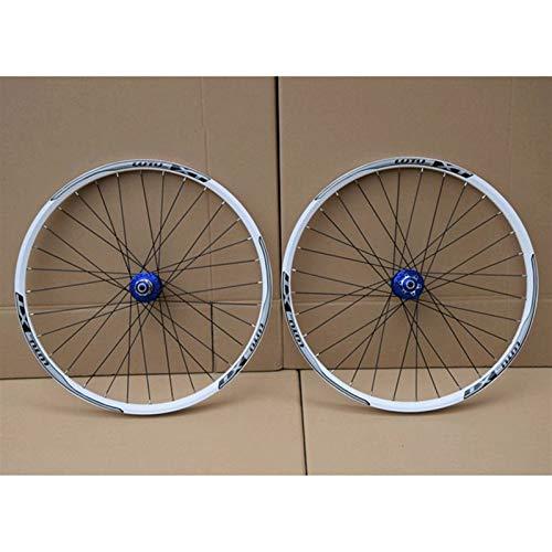 Bicicleta Wheelset MTB Doble Pared aleación de la aleación de la llanta del Disco 7-11 Tarjeta de Velocidad HUB COVIDOR Sellado QR 32H (Color : F, Size : 29')