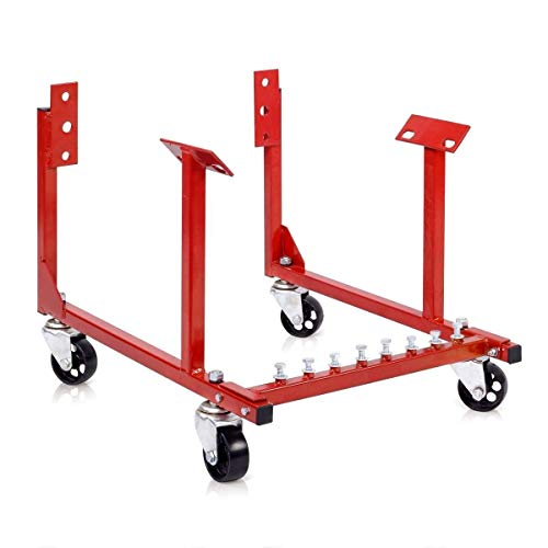 Stark Heavy Duty Engine Cradle Stand 1,000lbs Capacity Dolly Mover Repair Rebuild Ford Block w/Swivel Wheels