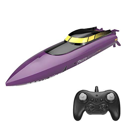 AFYH Remoto Barcos, Barcos de radiocontrol Barco de Motor eléctrico de Alta Velocidad 2.4G Resistencia de 25 km/h para Piscinas y Lagos Juguete acuático,B