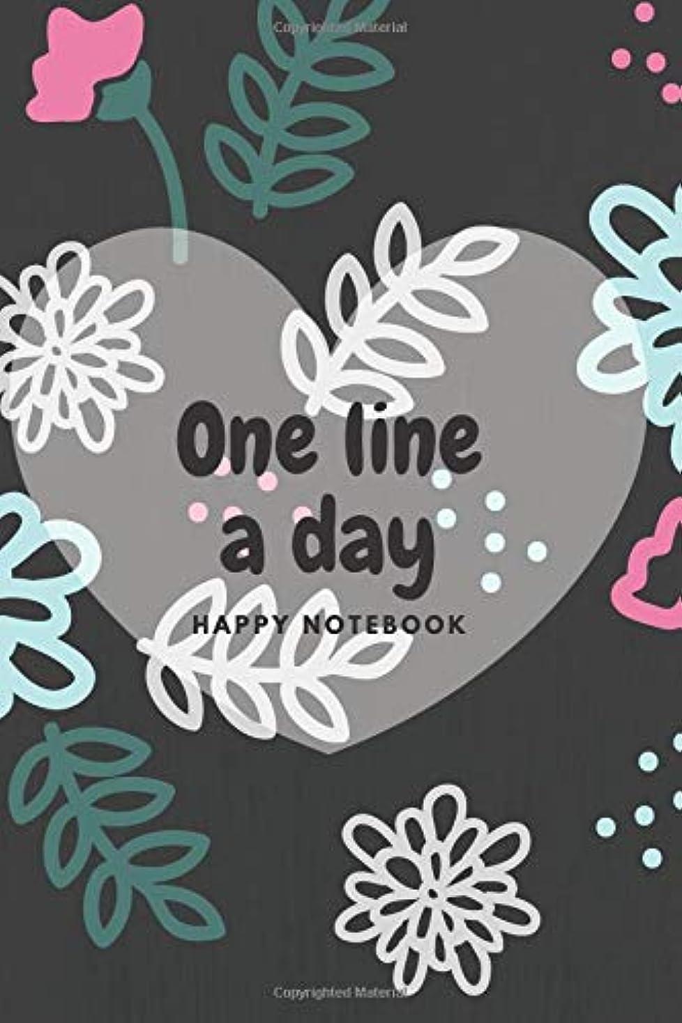 不幸蒸気目指すOne Line A Day Journal: Five Years of Memories, Journal, Diary (365 Pages, Dated and Lined Book, 6 x 9, Colorful Flowers)