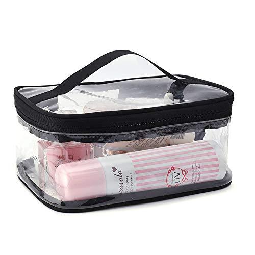Almacenamiento Bolsa de cosméticos transparente Ins Wind Portable Mujer Bolsa de almacenamiento de cosméticos de gran capacidad Bolsa de lavado de viaje de PVC impermeable Bolsa personalizada