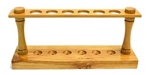"Eisco Labs Premium Wooden Test Tube Rack, (6) 22mm Holes, 9.5"" Long"