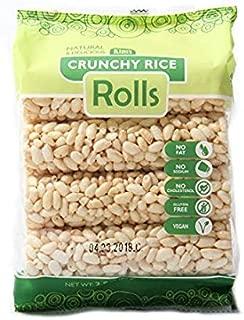 Kim's Magic Pop Crunchy Rolls   8 Rolls Per Pack   Gluten Free, Vegan, Vegetarian   Natural Ingredients   No Fat, No Sodium, No Cholesterol   Healthy, Sweet Snack (Rice Rolls, 1 Pack)