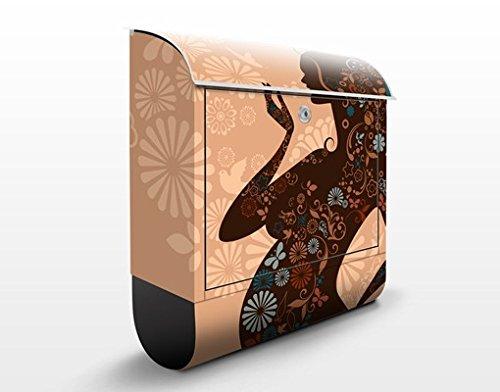 Buzón de diseño Vitality 39x46x13cm, acero inoxidable, buzón, diseño buzón, postbox, diseño de correos con compartimento para periódicos, caja, Tamaño: 46cm x 39cm