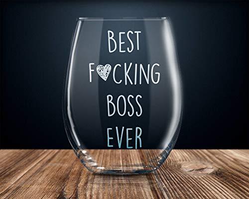 Divertido regalo de jefe para Boss Boss Boss copa de vino de 470 ml