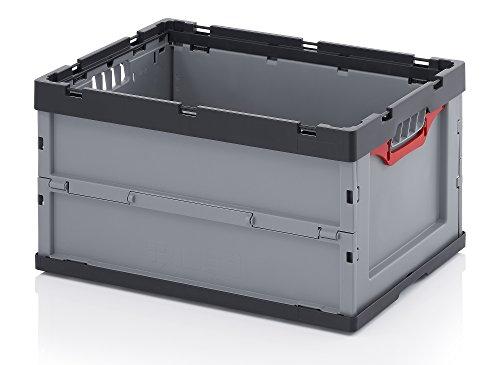 Profi-Faltbox ohne Deckel 2er Set Auer Faltbox, FB 64/32, 60x40x32 cm, 67 Liter, Behälter Stapelbehälter Aufbewahrungskiste