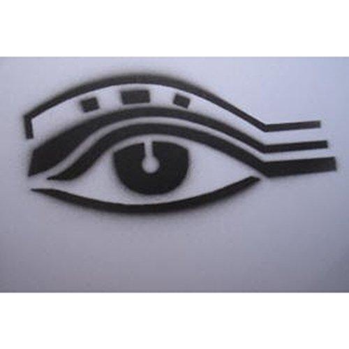 Airbrush-City Plantilla para tatuar con diseño de Ojo y aerógrafo S033